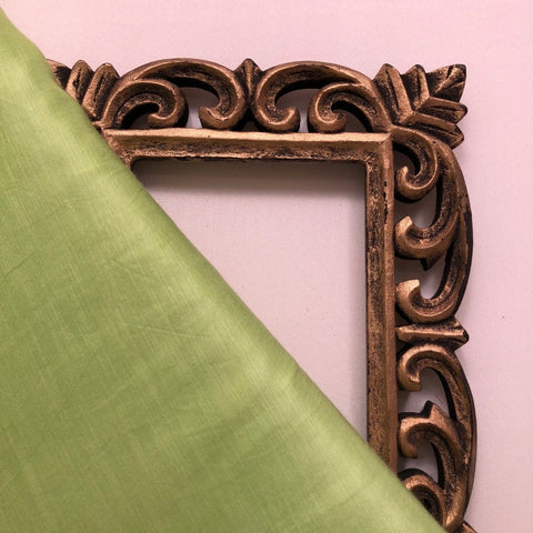 Pista Green Plain Satin Linen Fabric