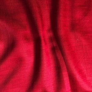 Marronish Red Plain Satin Linen Fabric