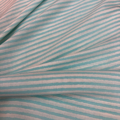Blue Stripe Maslin Fabric