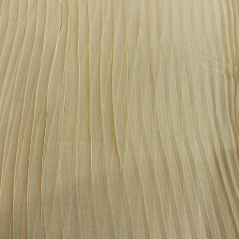Beige Pleated Georgette Fabric
