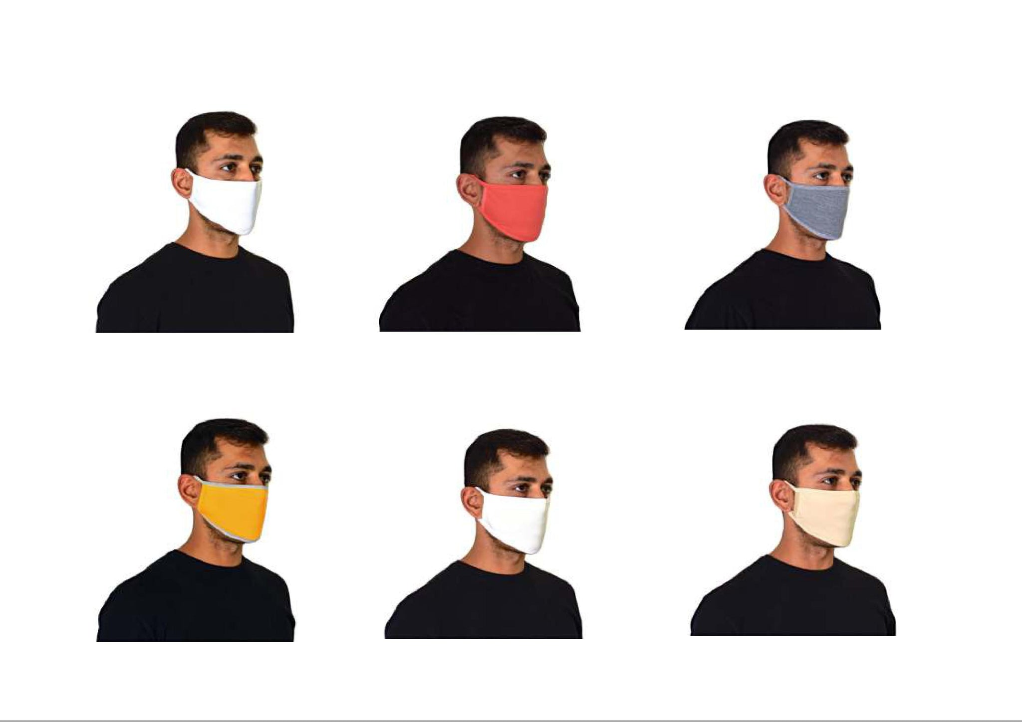 Multi Colour Family Pack - Athlete Pro Face Mask (Pack of 12) - Online Face Mask