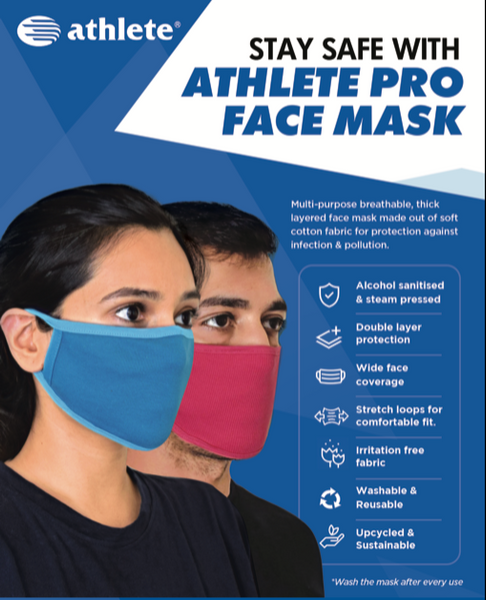 Multi Colour Family Pack - Athlete Pro Face Mask (Pack of 12)