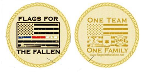 Flags For The Fallen Challenge Coin