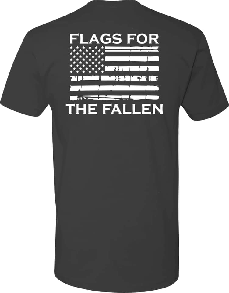 Flags For The Fallen Short Sleeve T Shirt Size Small- XL