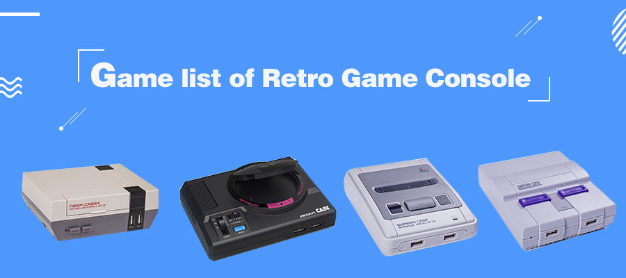 game list of retro game console