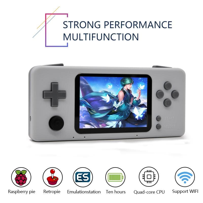 Retro CM3 Raspberry Pi Handheld Video Game Console With 15000 Games Support Netplay
