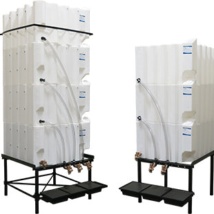 Gravity Feed Fluid and Oil Storage Systems