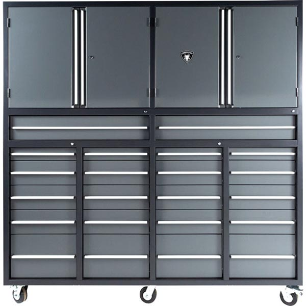 7ft Midnight Pro Series Mobile Tool Cabinet With 22 Drawers