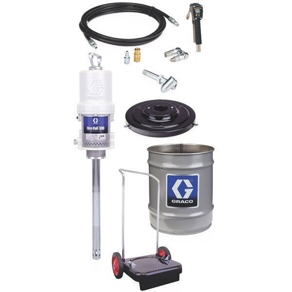 Fire-Ball 300 Series - 35 / 50 Lb 50:1 Grease Package (Accu-Shot Cart-Mounted Pail Dispenser)