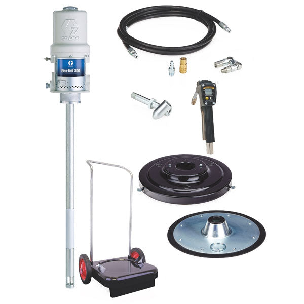 Fire-Ball 300 Series - 120 Lb 50:1 Grease Package (Mobile Cart, Accu-Shot Meter)