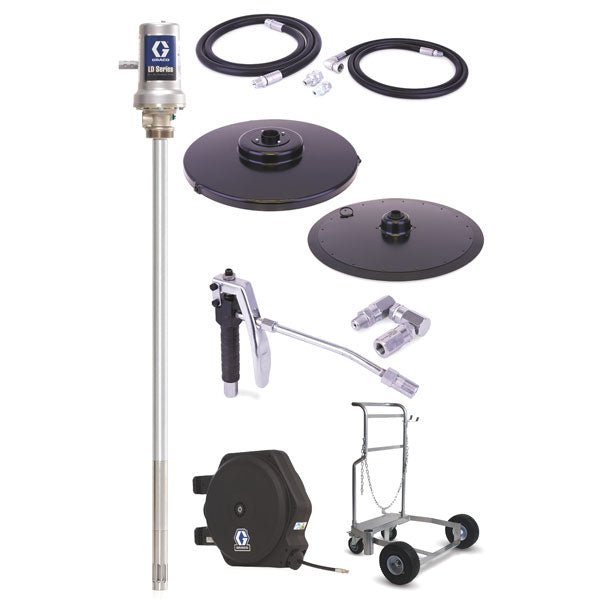 LD Series 50:1 - 400 Lb Grease Package (LD Hose Reel and Mobile Cart)