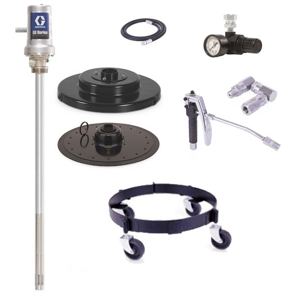 LD Series 50:1 - 120 Lb Grease Package (Mobile Base and Air Regulator)