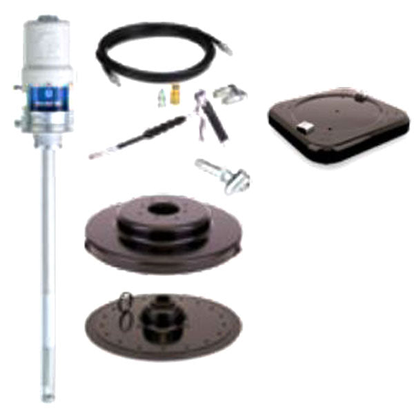 Fire-Ball 300 Series - 120 Lb 50:1 Grease Package (Mobile Caster Base, Pro-Shot Meter Extension)