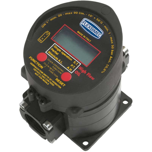 Flexbimec US2851, Oil HFlow | Electronic Gear Flow Meter (without Gun) transfers oil and antifreeze at 18.5 GPM.