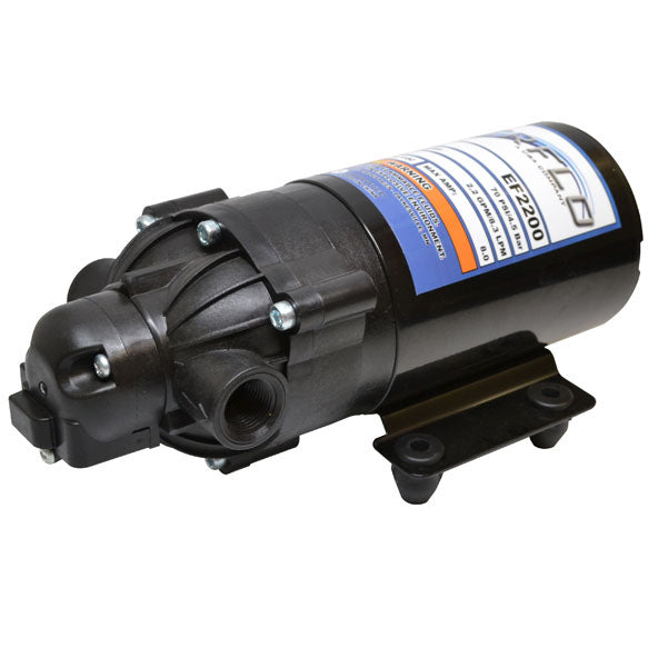 Everflo 12V On-demand Diaphragm Pump, 2.2 GPM