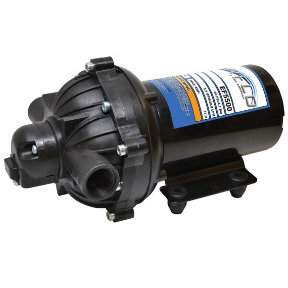 Everflo 12V On-Demand Diaphragm Pump, 5.5 GPM