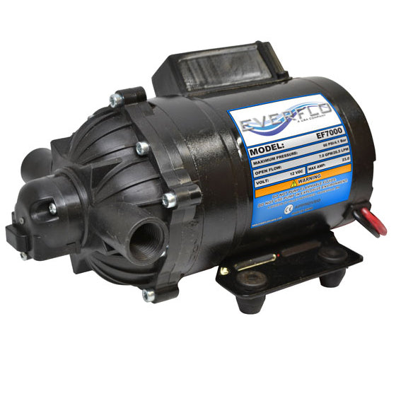 Everflo 12V On-Demand Diaphragm Pump, 7.0 GPM