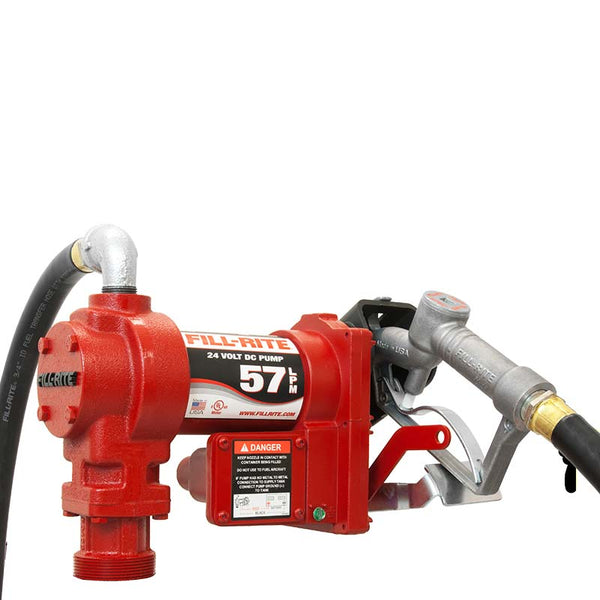 Fill Rite 24 Volt Pump With Hose & Nozzle