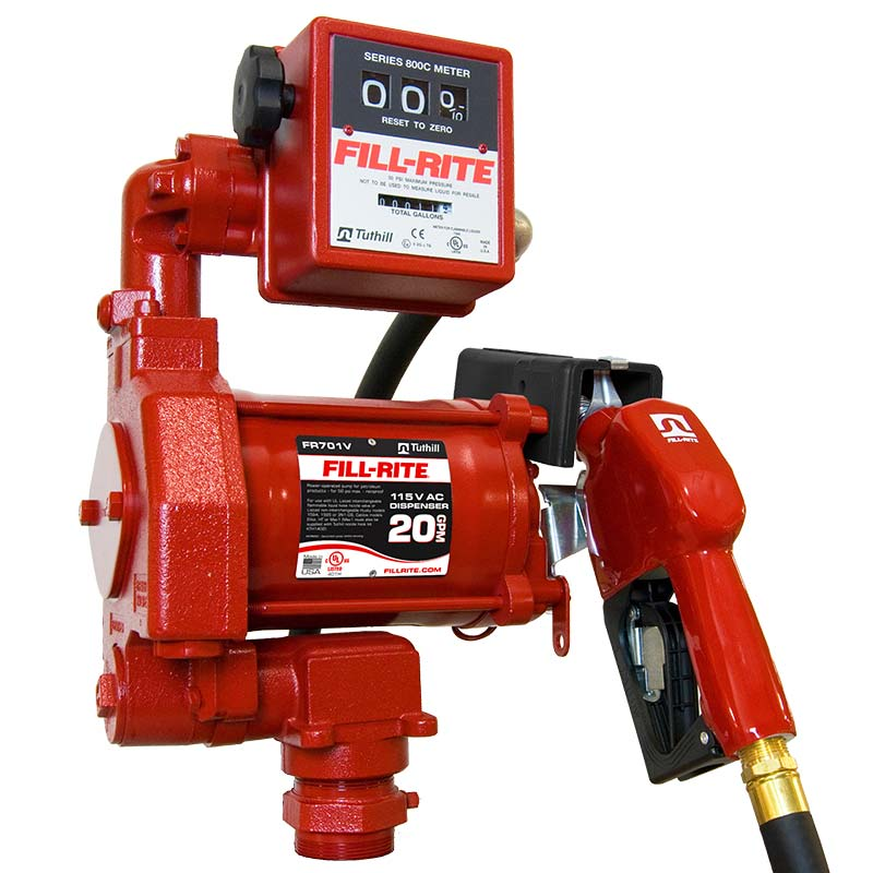 Fill Rite Pump with Auto Nozzle