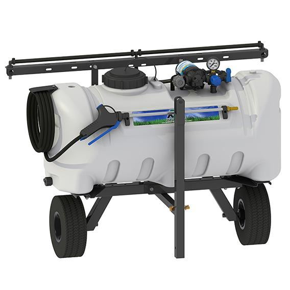 25 Gallon Deluxe New Directional Lawn Trailer Broadcast and Spot Sprayer