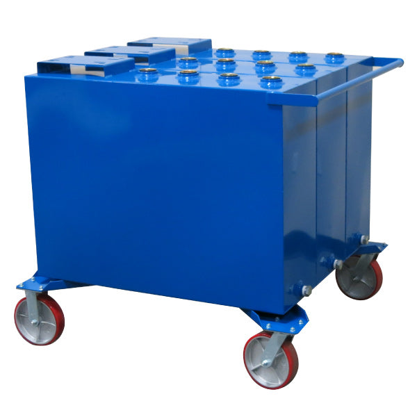 60 Gallon Each (3-Fluid) Steel Tank on Casters