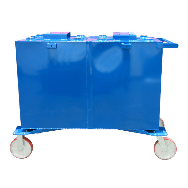 75 Gallon Each (2-Fluid) Steel Tank on Casters