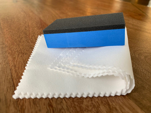 Foam Block and Suede Applicator Set