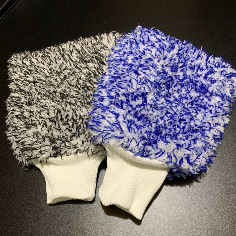 Wash Mitts - Black and Blue