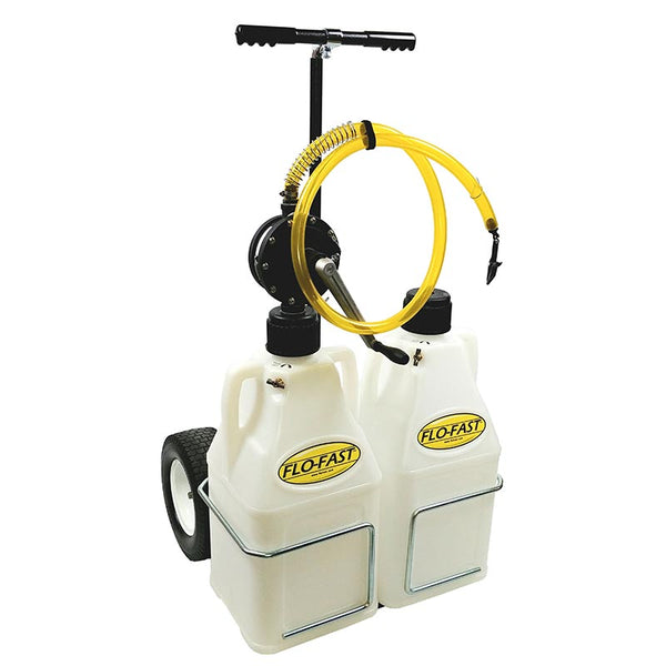 "FLO-FAST System (Pump, 12"" Tires, & (2) 7.5 Gallon Containers, Natural)"