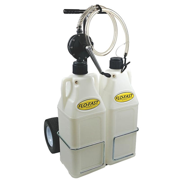 "FLO-FAST DEF System (Pump, 12"" Tires, & (2) 10.5 Gallon Containers)"