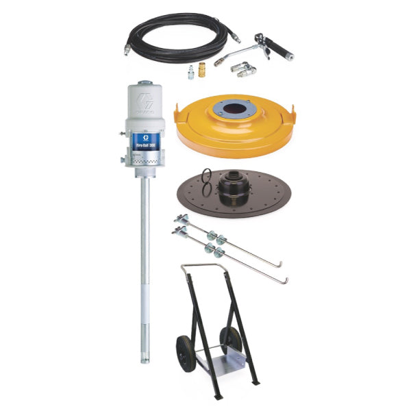 Fire-Ball 300 Series - 120 Lb 50:1 Grease Package (Heavy-Duty Cart, Pro-Shot)