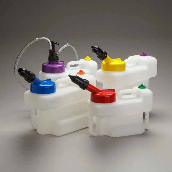 Color Coded Oil Container, 1 to 4 Gallon Capacity