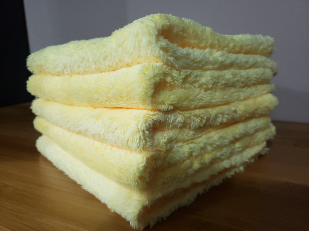 yellow microfiber jack towels, 5 pack