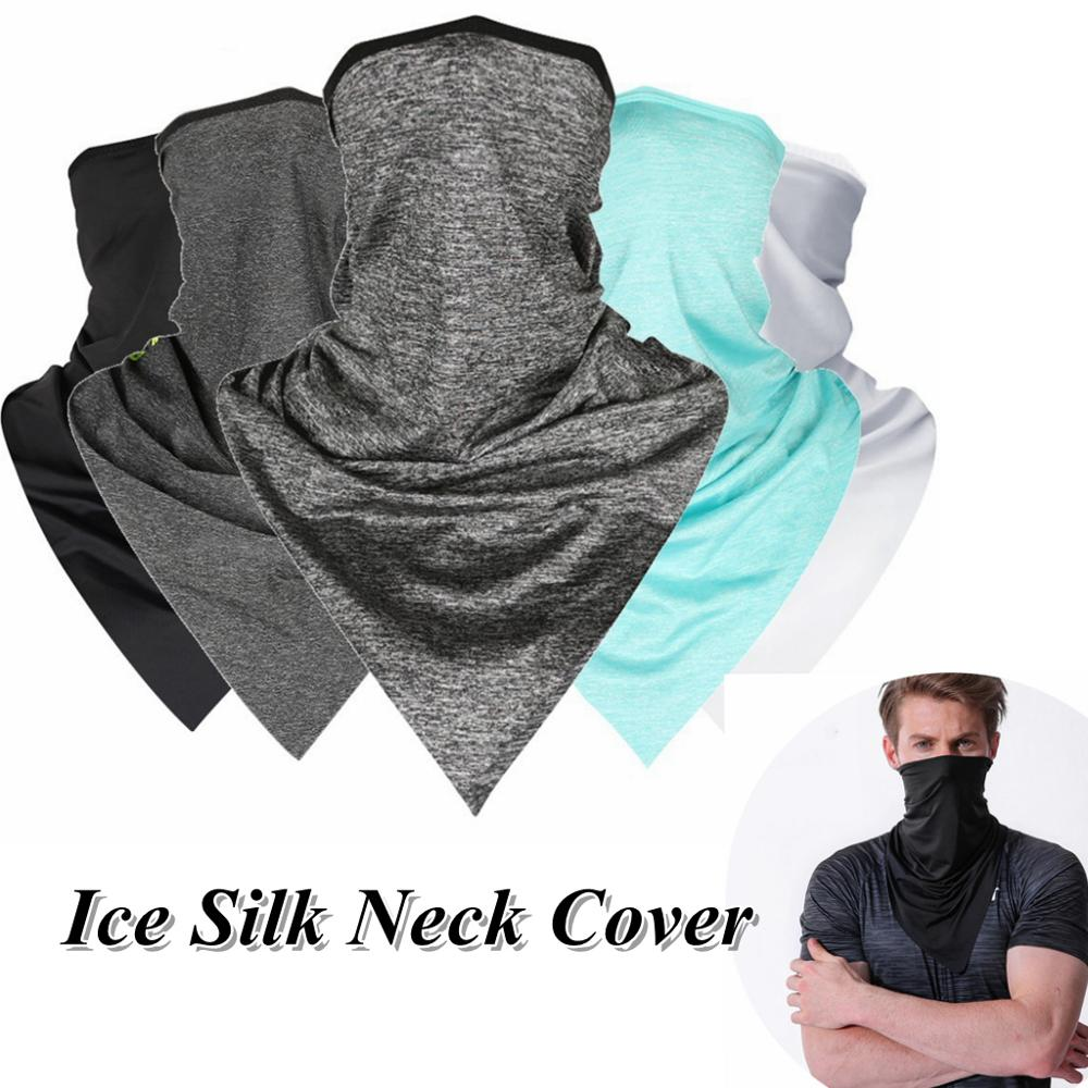 Outdoor Cycling Breathable Ice Silk Neck Cover Face Bandana Windproof Dust Neck Cool Scarf Wrap Sports Neckwear Headband