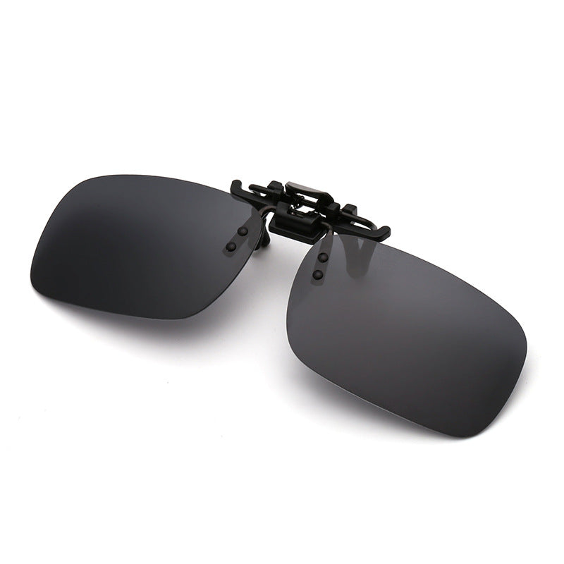 black Polarized Clip-on Sunglasses