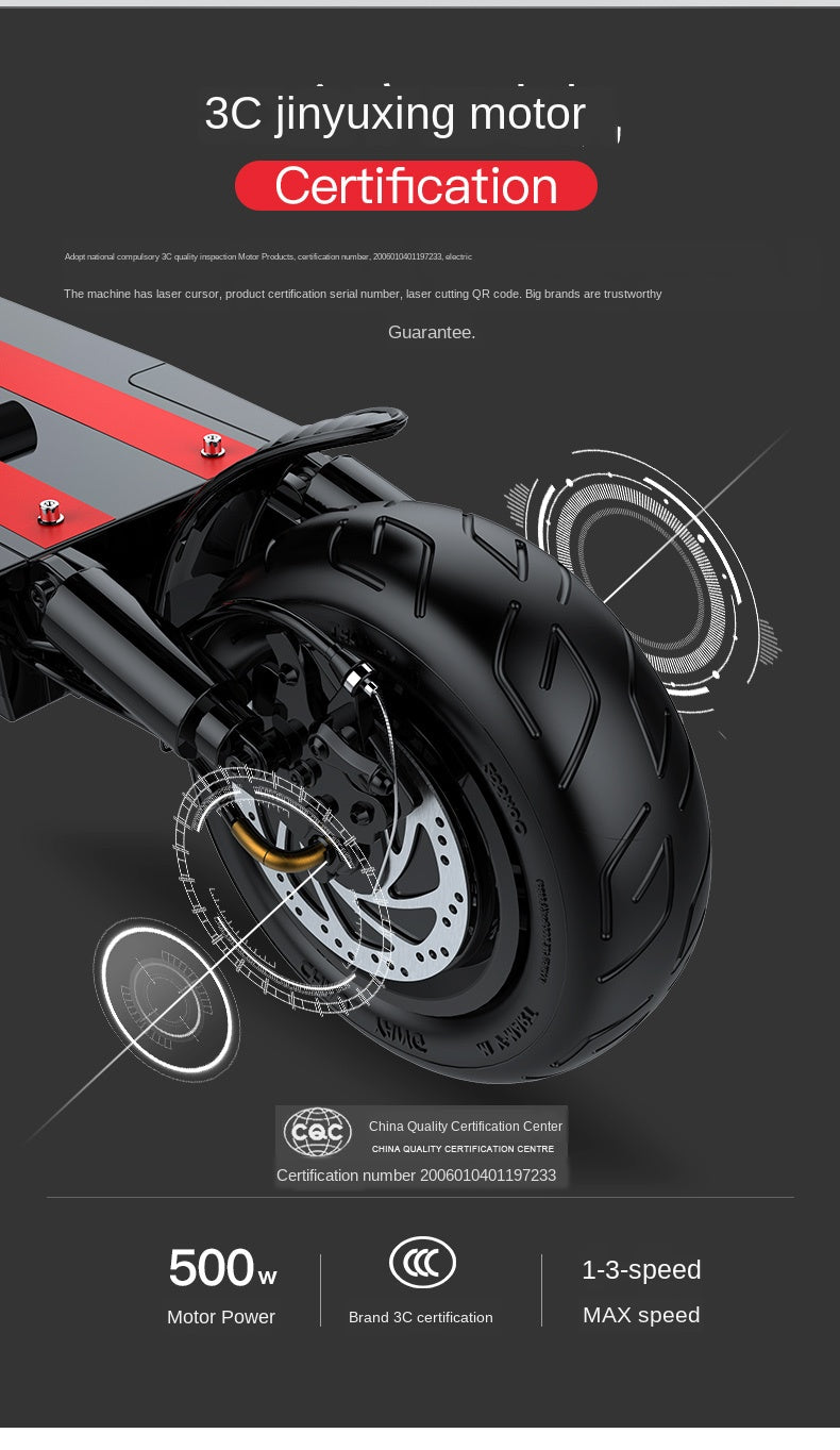 Electric Scooter with Shock Absorbers Electric bicycle