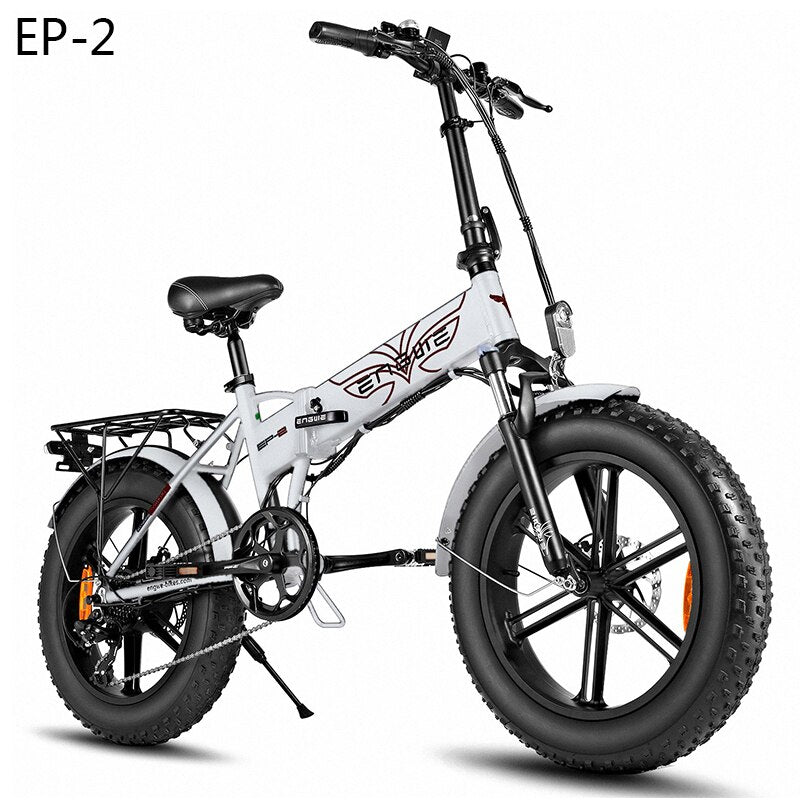 Electric Bike 48V12.5A Lithium Battery 20*4.0 inch Aluminum Folding Electric Bicycle 500W Powerful Mountain bike Snow /beach bike