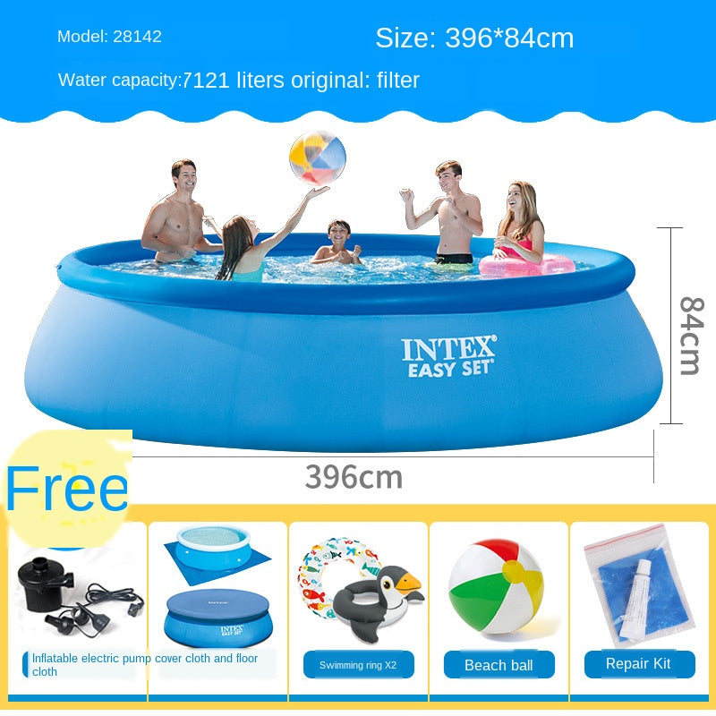 Summer Waves 10ft x 30in ,12ft X 30,8.5ft x 5.3ft x 26in,Quick Set Inflatable Above Ground Pool with Filter Pump INTEX