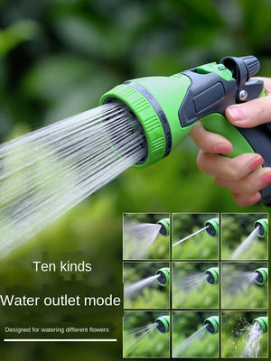Garden Sprinklers, High Pressure Fireman Style Nozzle with Ergonomic Handle for Women and Children to Water Lawn and Garden