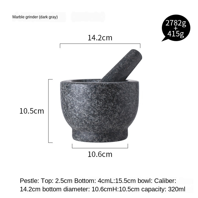 Mortar Pestle Set Marble granite Garlic Herb Spice Mixing Grinding Crusher Bowl Restaurant Kitchen Tools  Herbs Pesto Grinder