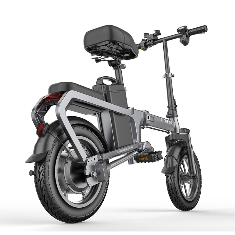 New Electric Bike without chain14inch Mini Electric Bicycle 48V10A city ebike 350W Powerful 32km/h bike/Full throttle sctooer