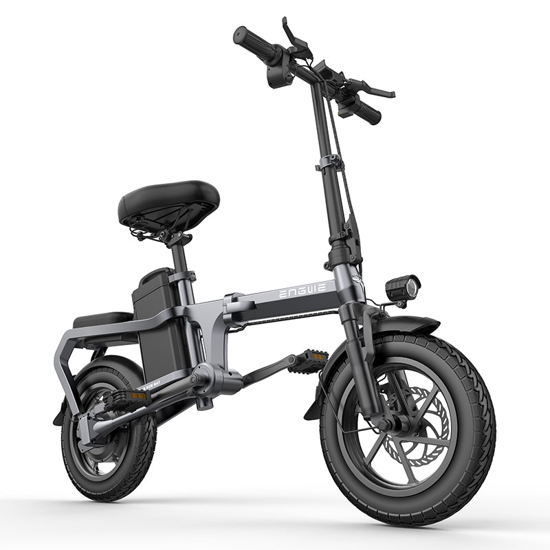 New without chain Electric Bike 14inch Mini Electric Bicycle 48V10A city ebike 32KM/H 350W Powerful bike/Full throttle sctooer