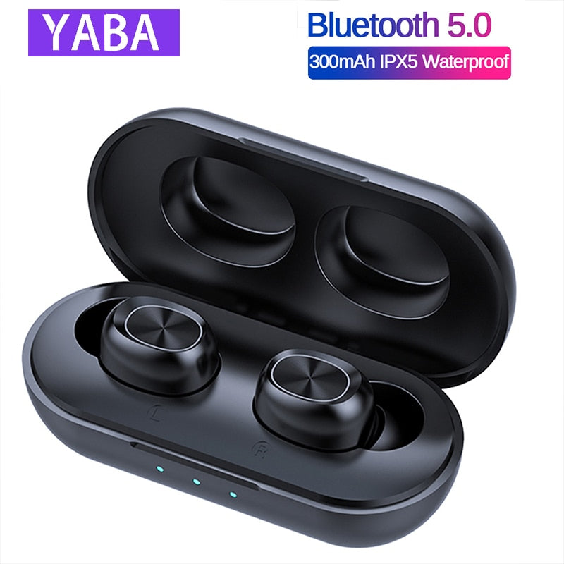 YABA BTH-239 Touch Control Bluetooth Earphones, TWS  Wireless headphones earbuds Waterproof 9D Stereo Music Headset for Xiaomi