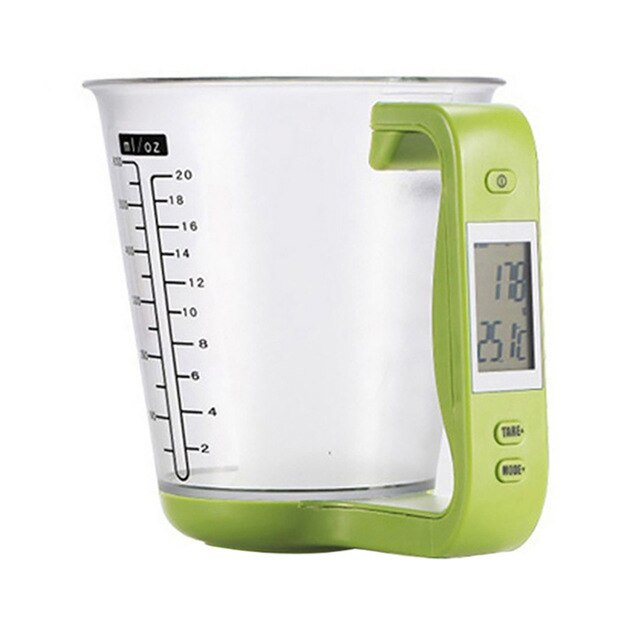 New Kitchen Measuring Cup Digital Electronic Scale With LCD Display Multifunctional Temperature Liquid Measurement Cups Dropship