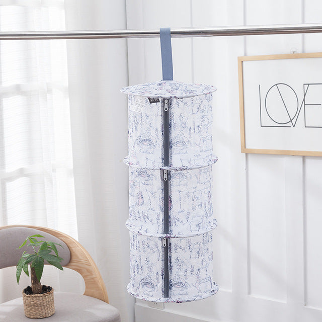 Drying net drynet clothes drying basket Household Folding Clothes Network sweater tile blouse anti-deformation herb drying rack