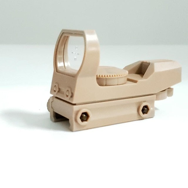 Hot 20mm Rail 4 Grating Hunting Sight Hunting Optical Holographic Red Dot Aiming Reflection Sight Water Hunt Accessories