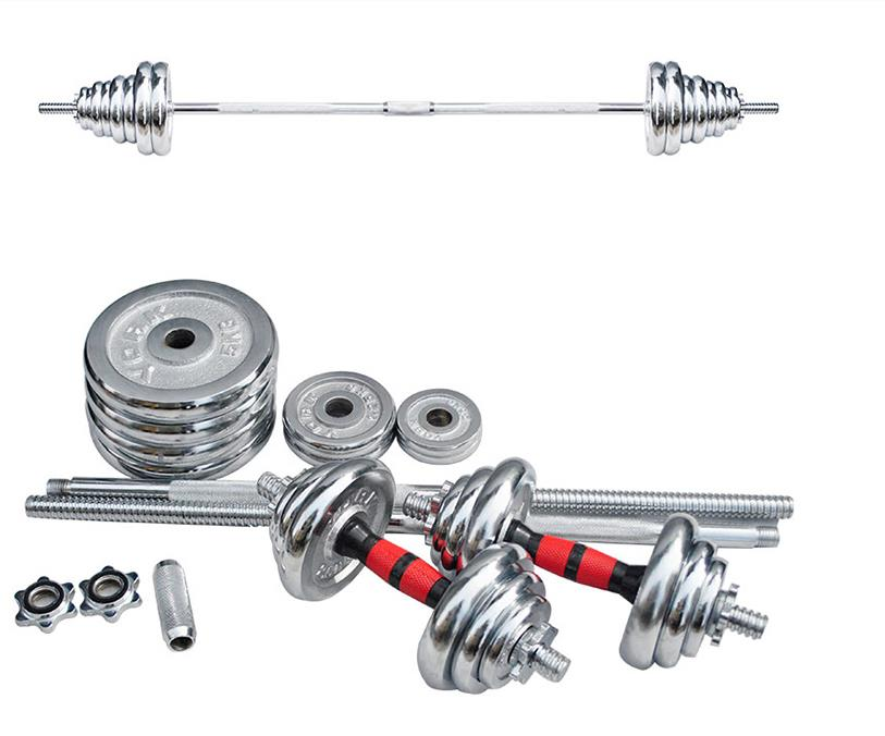 50kg Barbell Set Dumbbell Barbell Dual Set Men's Weight Lifting Plating Barbell Fitness Equipment