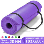 NBR Yoga Mat 183*60cm Super Thickness 20mm Yoga Mats Non-slip Tasteless Fitness Esterilla Pilates Home Exercises Gym Sport Pad