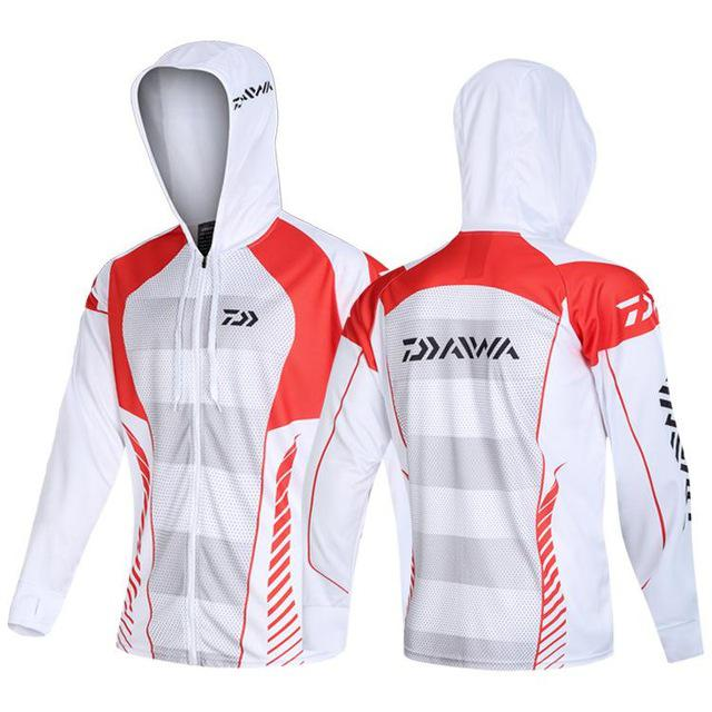 Daiwa Clothes Fishing Shirt Jacket Ice Silk Quick Dry Sports Clothing Sun Protection Face Neck Anti-uv Breathable Fishing Hooded