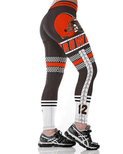 Cleveland B-Team Fitness Leggings Fiber Elastic Hiphop Party Cheerleader Rooter Workout Pants Logo Trousers Dropshipping